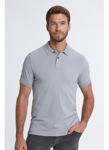 Hemington Vintage Görünümlü Polo Yaka T-Shirt Gri
